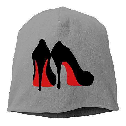 DIMAA Womens Knit Skull Beanie Hat Black High Heel Shoe Warm Casual Watch Cap -