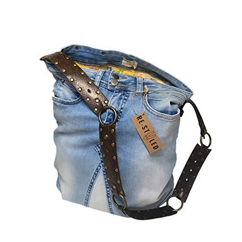 Denim Tasche, Lässige Schultertasche, Hobo Bag, Große Denim Tasche, Denim Taschen handgemacht, Blaue Umhängetasche, Geschenk für Mama, Damen Denim Jeans Tasche, Umhängetasche, Messenger Bag, Handtasche, Schultertasche, Tragetasche