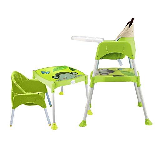 Spieltisch Hochstuhl (Tomasa Hochstuhl Kinderhochstuhl ab 6 Monaten mitwachsend, höhenverstellbar hoch Qualität( DE Lager) (Grün))