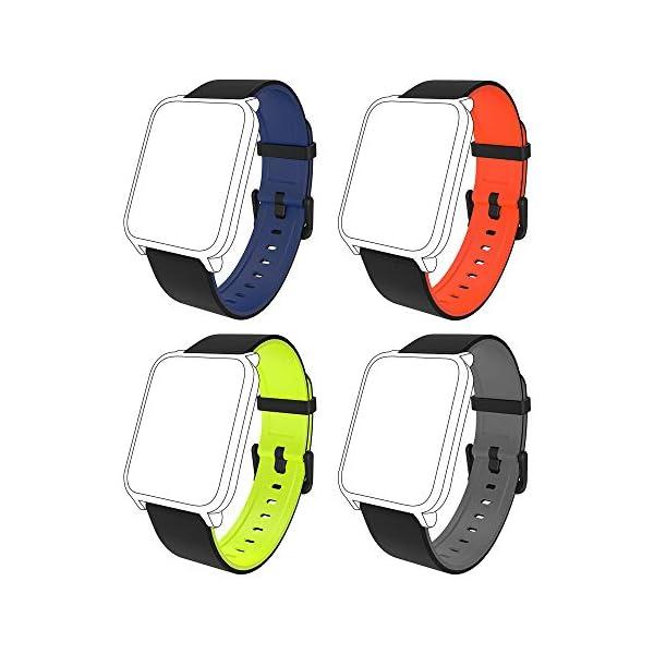 Fitpolo Bandas de reemplazo de Silicona H706 Fitness Tracker, Correa de Pulsera Activity Tracker, No Tracker (Paquete de… 1