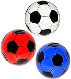 Unbekannt 1 Stück _ Spardose -  Fußball / Ball - bunt  - stabile Sparbüchse aus Keramik / Porzellan - Ballform groß - Jungen Ballsport / Ballspiel - Lederball Fußball..