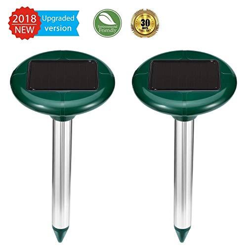 ZEBRAFI 2 Stück Solar Maulwurfabwehr,Ultrasonic Solar Maulwurfschreck,Mole Repellent, Maulwurfbekämpfung, Schädlingsbekämpfung mit IP56 für Den Garten...