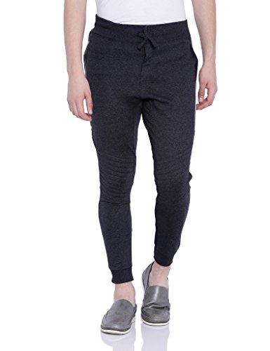 Campus Sutra Men Grey Track Pant (AW16_TPLDRZP_M_PLN_CH_M)