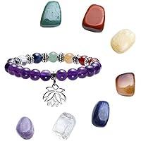 JOVIVI 7 Chakra Armband Energietherapie Yoga-Armband Lotus Symbol Anhänger+formlos Feng Shui Healing Reiki Steine... preisvergleich bei billige-tabletten.eu