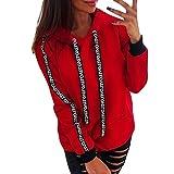 Damen Weihnachten Kapuzenpullover, Frauen Rentier Langärmlig Pullover Kapuzenpulli Festlich T-Shirt Xmas Sweatshirt Pulli Hoodies Drucken Mädchen Übergroß Tops