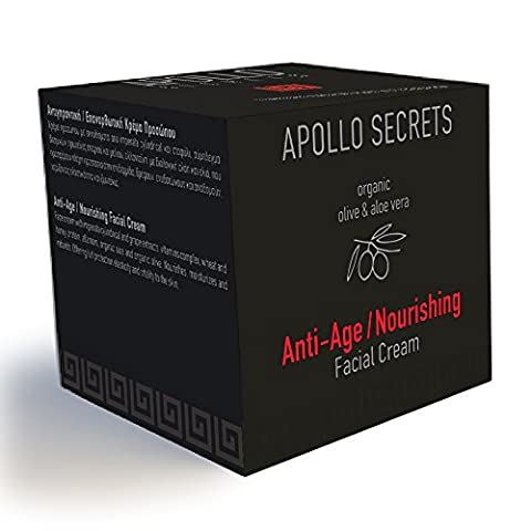 Anti Ageing Cream For Men - By Apollo Secrets Natural Cosmetics - 50ml - Helps to Reduce the Appearance of Fine Lines and Wrinkles - Deeply Nourishes and Replenishes - FREE UK