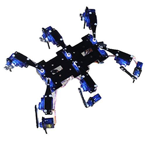Almencla Hexapod / Robot A 6 Zampe Robot Black Spider Set Completo di Accessori per Staffa