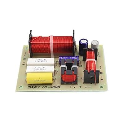 sourcingmap® 2pcs 180W 3 voies diviseur fréquence audio haut parleur Planche filtres Crossover Amplificateur de sourcing map