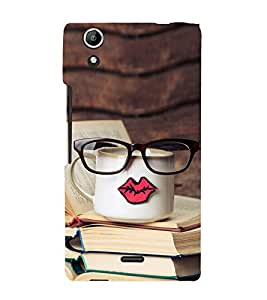 Tea and Books 3D Hard Polycarbonate Designer Back Case Cover for Micromax Canvas Selfie 2 Q340