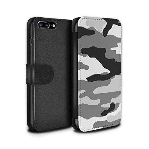 Stuff4 Coque/Etui/Housse Cuir PU Case/Cover pour Apple iPhone 4/4S / Vert 1 Design / Armée/Camouflage Collection Blanc 2
