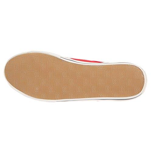 U.S. POLO Sneaker Damenschuhe mit Schnürsenkeln - mod. RUMBA4187S7-C1 Rot