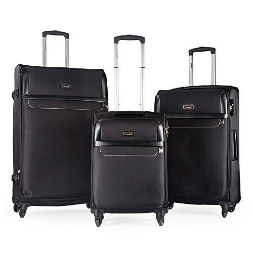 Condotti Set de Bagages Luxe Polyester 3 Pièces 83 L (Noir)