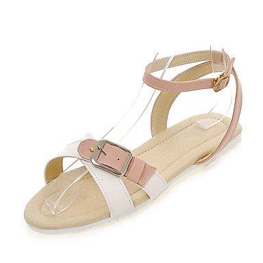 LvYuan Da donna-Sandali-Formale Casual Serata e festa-Altro-Piatto-Finta pelle-Blu Rosa Viola Tessuto almond Pink