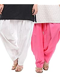 Crafts100% Pure Solid Cotton Semi Patiala Salwar Bottoms Indoor Outdoor For Women's & Girls( Free Size , Color... - B0762KPH7C