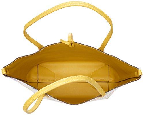 David Jones - Cm3836, Borse Tote Donna Giallo (Yellow)