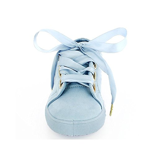 Ideal Shoes, Damen Sneaker Blau