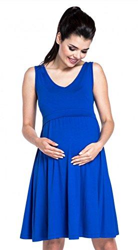 Zeta Ville - Stillen A-Linie Kleid Schwangere Tiefer V-Ausschnitt - Damen - 685c Königsblau