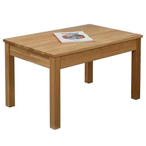 Table basse en chêne Tomas 75 x 50 x 45 cm en bois massif