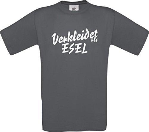 ShirtInStyle T-Shirt Karneval Verkleidet als Esel Die beste Verkleidung Farbe grau, Größe (Mittwoch Kostüme Erwachsene)