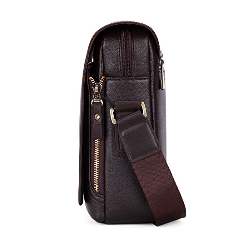 VICUNA POLO, Borsa a spalla uomo nero black 33*23*8cm brown