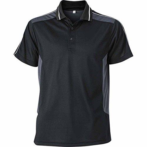 JAMES & NICHOLSON Herren Poloshirt, Einfarbig noir et carbone