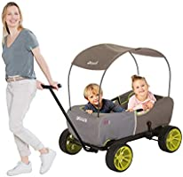 Hauck Eco Mobil - Multifunctional Wagon with Removable Shade Canopy | Transport Cart for Kids | Foldable Utility Wagon |...