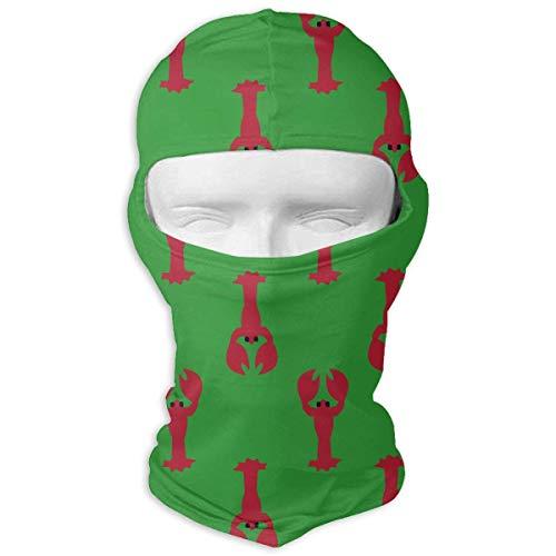 Aeykis Roter Hummer Winddicht Gesichtsmaske atmungsaktiv für Radfahren Skifahren Wintersport