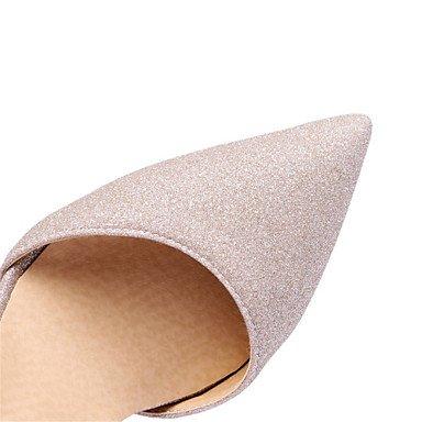 LFNLYX Les talons des femmes Printemps Été Automne Nouveauté Glitter Supports personnalisés occasionnels Mariage Soirée Party & HeelRhinestone Stiletto Imitation Silver
