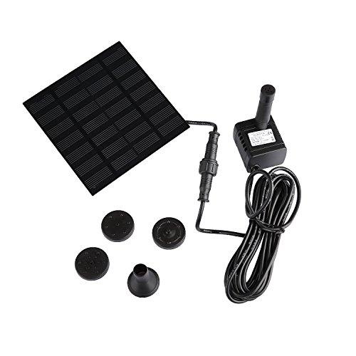 Advertencia: 1. Productos con fuerza directa de la bomba de agua solar, no lleva baterías externas. Un nivel elevado del agua depende completamente de la fuerza del sol, cuando la luz del sol es débil, las bombas de agua no funcionan continuamente; u...
