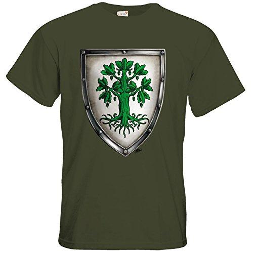 getshirts - Das Schwarze Auge - T-Shirt - Die streitenden Königreiche - Wappen Andergast L Khaki