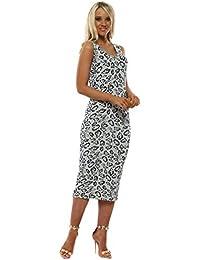 ed50f25db9d85 A Postcard From Brighton Savannah Coconut Leopard Print Midi Dress