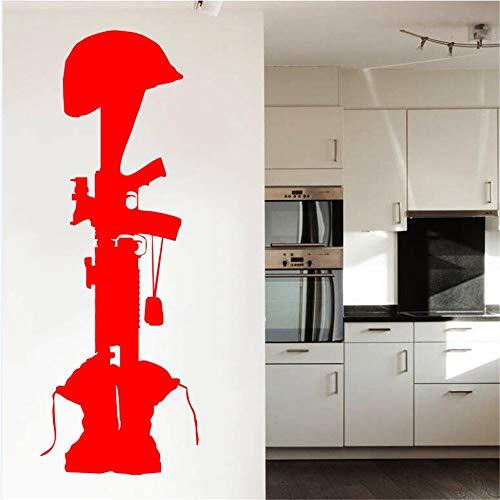 Besonderes Denkmal Für Gefallene Kameraden Wandaufkleber Spezielle Silhouette Wandtattoos Wandhaupt Schlafzimmer Kreative Decor Aufkleber 56 * 140 cm (Captain America-mac-aufkleber)