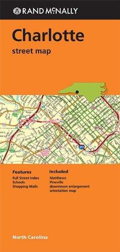 Folded Map Charlotte Streets NC - Karte Nc Charlotte