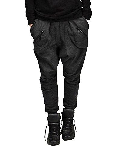 Harem Pantalones De Hombre Deporte Chinos Jogging Pantalon Skinny Casual  Pantalón Gris oscuro M 0cd2ab29e1b9