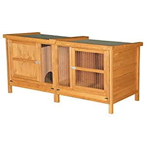5ft Chartwell Single Tier Outdoor Rabbit Hutch   XL Wooden Pet House For Small Pet Rabbits or Guinea Pigs   The Tallest and Deepest 5ft Single Pet Cage on Amazon