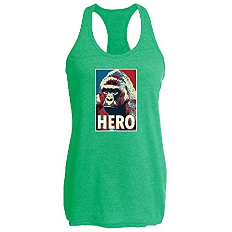Harambe Pop Art Hero Heather Kelly XL Womens Tank Top by Pop Threads