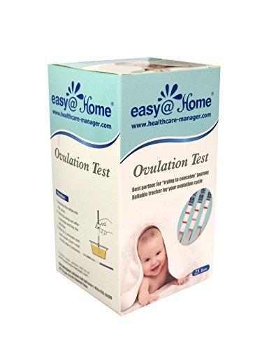 25 x Ovulationstest Fruchtbarkeitstests von Easy@Home - Unterstützt durch die kostenlose Premom Ovulation APP (25 LH Tests)