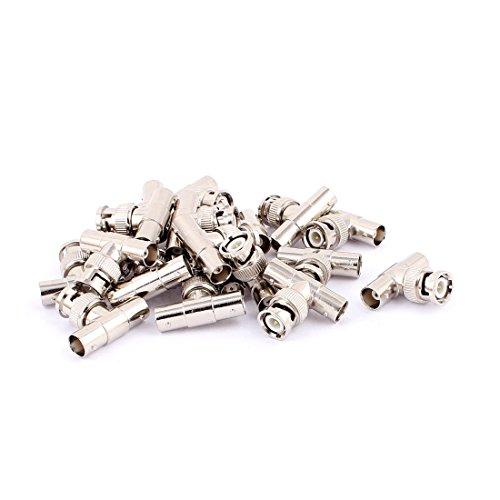 Miki&Co 20Stk. Metall BNC Stecker zu Dual BNC Buchse Tee Typ Verbinder Adapter Splitter Bnc-tee