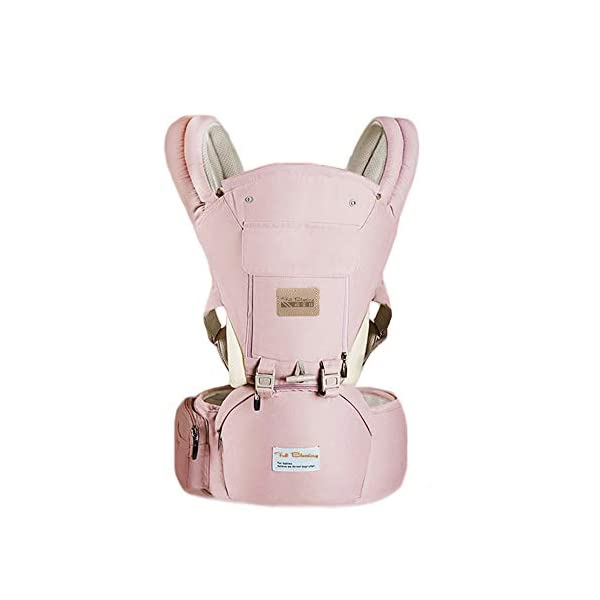 Gossipyboy Baby Carrier/ Front Carrier One with Hip Seat Egornomic Designed 11 in 1 Hands Free for All Seasons, Easy Breastfeeding, No Infant Insert Needed, Adapt to Growing Baby (Pink) Gossipboy PREMIUN COTTON MATERIAL. We used top quality 100% pure cotton material, which is soft, smooth, breathable, anti- allergy, anti- depigmentation and anti- pilling. Plus tough buckles, your baby will be comfortably secured in the baby carrier, no worries for falling accidents! LABOR SAVER. The unique shoulder design and thickly padded wide shoulder straps can easily disperse baby's weight. You will feel much easier with this baby carrier because the baby's weight is distributed. The buckles are easy to access and durability tested. ANTI- SLIP HIP SEAT. The hip seat was designed by ergonomics and thickly padded by anti- slip rubber dots surface. It benefits skeletal development for baby. Plus the covered edges around the hip seat, you are worry- free for scratches to your baby's delicate skin. 35° bevel design for more comfortable parenting. 1