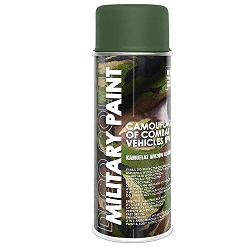 1 Stück 400ml Militär Army Militärlack Lackspray Nato Farbe wählbar (olive-grün RAL 6003)