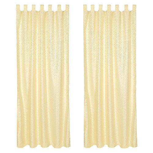 Tectake tende panna per casa tenda finestra oscuranti poliestere 245x137cm - disponibile in diversi colori e diverse quantità - (2x giallo | no. 401905)