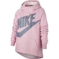 Nike G NSW Hoodie PO PE Sudadera, Niñas, Rosa (Pink/HTR/Ashen Slate), L