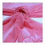 Stoff Polyester Chiffon rosa transparent leicht weich