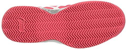 Asics Gel-Challenger 11 Clay, Scarpe da Ginnastica Donna Rosso (Rouge Red/White/Glacier Grey)