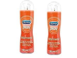 Durex - Gel Lubrifiant Effet Hot Chaleur - Lot de 2 gels de 50 ML