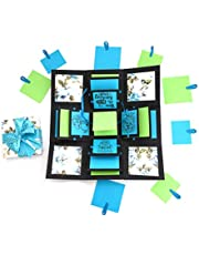 Crack of Dawn Crafts 3 Layered Happy Explosion Box Blue Floral (Birthday)