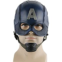 nihiug Captain America 3 Capitán American Mask COS Halloween Helmet Props,PVC-OneSize