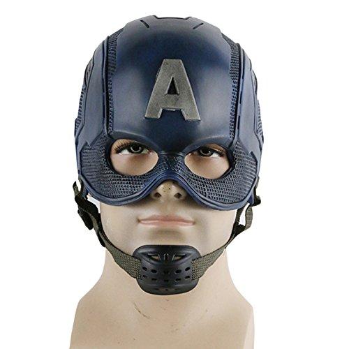 nihiug Captain America 3 Kapitän American Maske COS Halloween Helm Requisiten,PVC-OneSize
