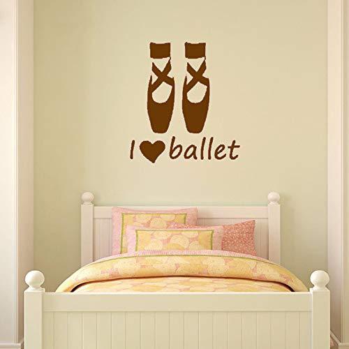 Zaosan Vinilo Decorativo I Love Ballet Zapatos Baile