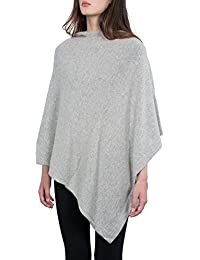 Kemailù - Moon Poncho in Misto Cashmere - Donna b7756a7b7c50